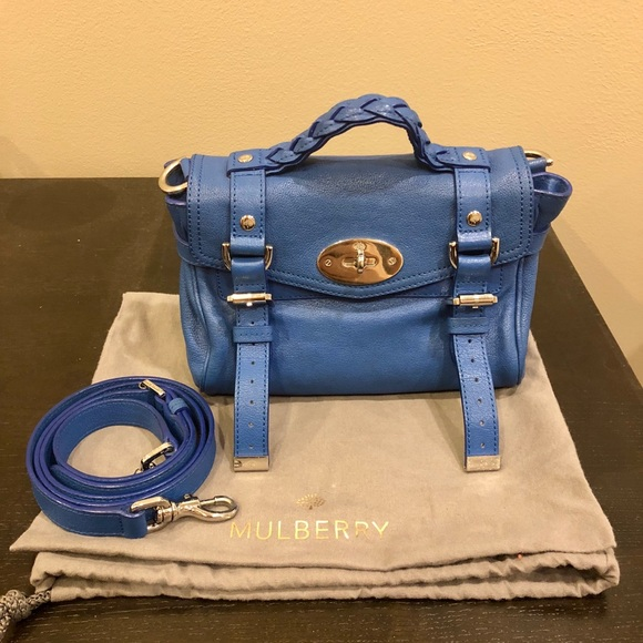 Mulberry Mini Alexa Bag Bluebell - Orig  1 4f735653a04bd